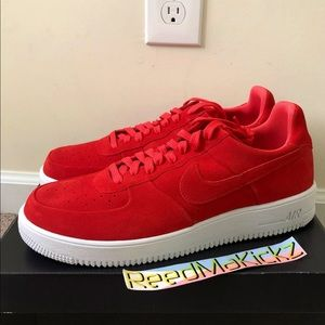 Nike air force 1 ultraforce suede red mens
